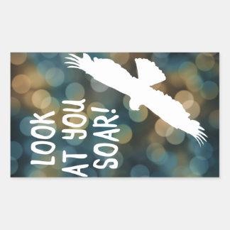 look at you soar rectangular sticker