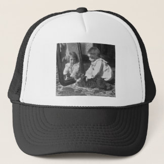 Look at Yourself, Pussy - Vintage Stereoview Trucker Hat