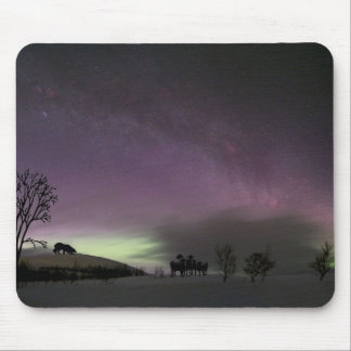 """Look Back.""  Border Collie Mousepad"
