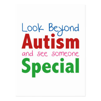 Look Beyond Autism And See Someone Special Postcard