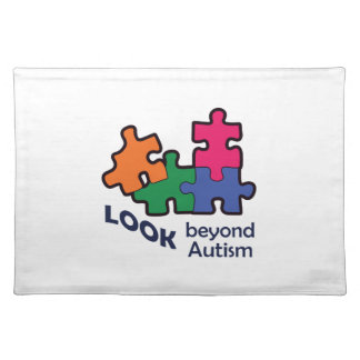 LOOK BEYOND AUTISM CLOTH PLACEMAT