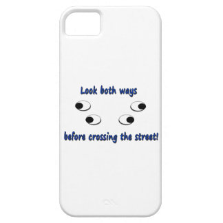 Look both ways...crossing street! iPhone SE/5/5s case