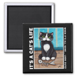 Look Cute v.02 - It's A Cat's Life Magnet