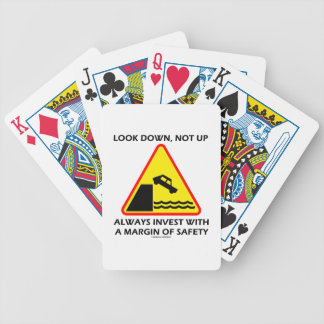 Look Down, Not Up Always Invest Margin Of Safety Bicycle Playing Cards