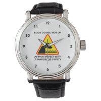 Look Down, Not Up Always Invest Margin Of Safety Wristwatch