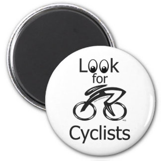 Look for Cyclist Mug 2 Inch Round Magnet