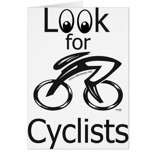 Look for Cyclist Mug Card