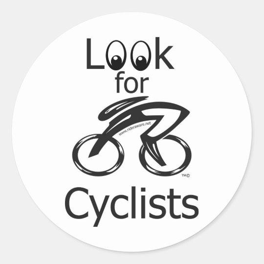 Look for Cyclist Mug Classic Round Sticker