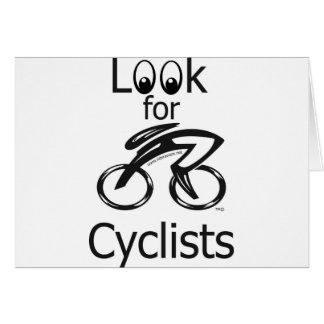 Look for Cyclist Mug Greeting Card