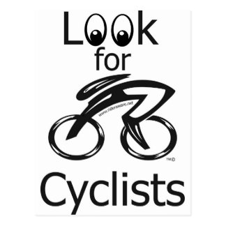 Look for cyclists post cards