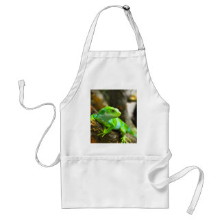 Look  for love and joy iguana lizard reptile adult apron