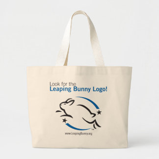 Look for the Leaping Bunny Jumbo Tote Bag