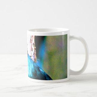 Look forward to love and peace superbus starling mug
