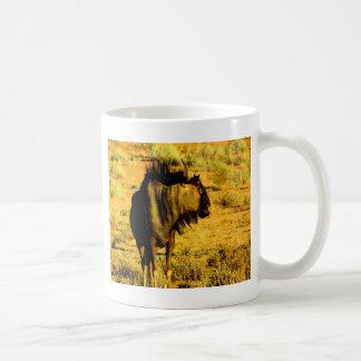 Look forward to my love blue wildebeest antelope coffee mug