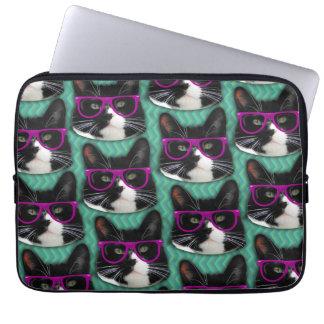 Look Glasses Tuxedo Cat Computer Sleeve
