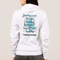 """Look"" healthy/Butterfly...Dysautonomia Hoodie"