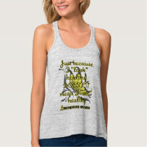 """Look"" healthy/Butterfly...Endometriosis Tank Top"