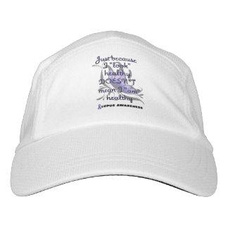 """""""Look"""" healthy/Butterfly...Lupus Headsweats Hat"""