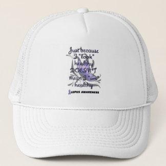 """""""Look"""" healthy/Butterfly...Lupus Trucker Hat"""