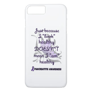 """Look"" healthy/Butterfly...Pancreatitis iPhone 7 Plus Case"