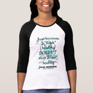"""""""Look"""" healthy/Butterfly...PCOS T-Shirt"""