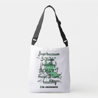 """Look"" healthy/Butterfly...TBI Crossbody Bag"