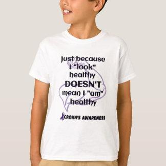 """Look"" healthy/Muscle...Crohn's T-Shirt"
