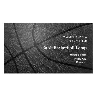 Look_hoop coach_textured campo net2 del baloncesto tarjetas de visita