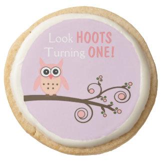 Look Hoots Turning One Owl Shortbread Cookies