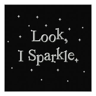 Look, I Sparkle Party Invitations