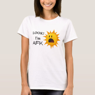 """Look! I'm AFK"" tee - yellow"