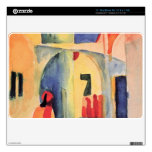 Look in a lane by August Macke Decal For MacBook Air