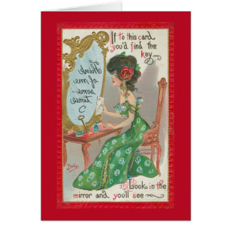 Look in the Mirror - Think of Me - Red Border Card
