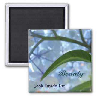 Look Inside for Beauty magnets Blue Floral magnet