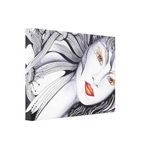 Look into my eyes gallery wrapped canvas