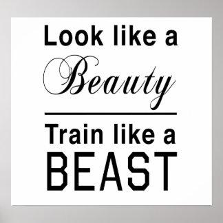 Look Like a Beauty, Train Like a Beast Poster