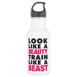 Look Like A Beauty Train Like A Beast Stainless Steel Water Bottle