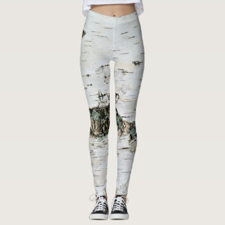 Look like a Tree Birch Wood Leggings