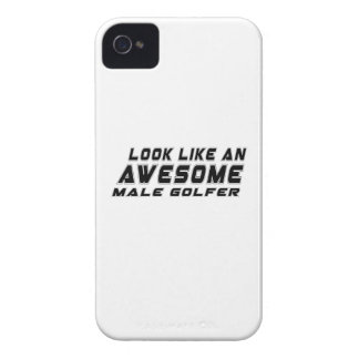 Look Like An Awesome male golfer iPhone 4 Case