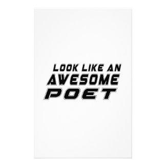 Look Like An Awesome Poet Stationery