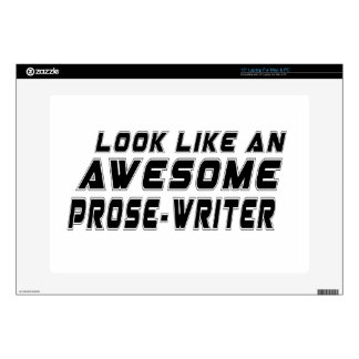 Look Like An Awesome Prose-write Laptop Decal