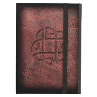 (Look like) pressed celtic knot on genuine leather Case For iPad Air