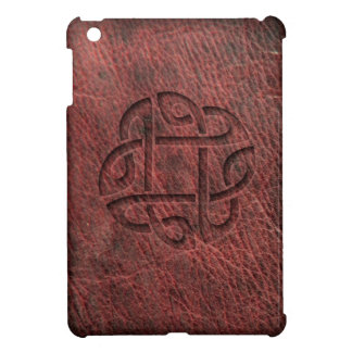 (Look like) pressed celtic knot on genuine leather Case For The iPad Mini