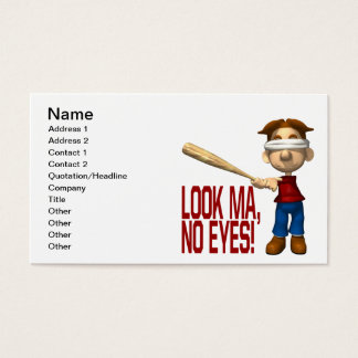 Look Ma No Eyes Business Card