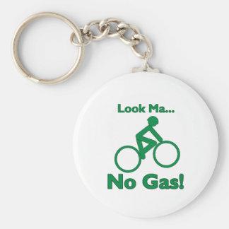 Look Ma, No Gas! Basic Round Button Keychain
