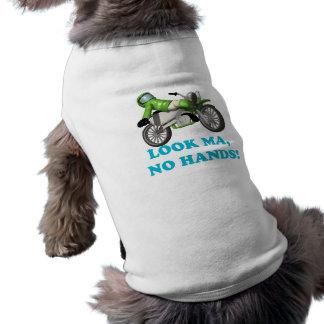 Look Ma No Hands Dog T Shirt