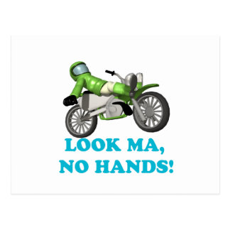 Look Ma No Hands Postcard