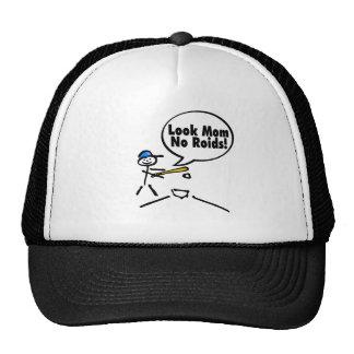 Look Mom No Roids (Baseball) Trucker Hats