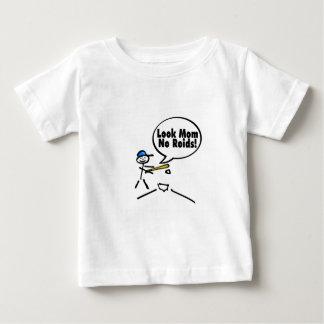 Look Mom No Roids (Baseball) T Shirt