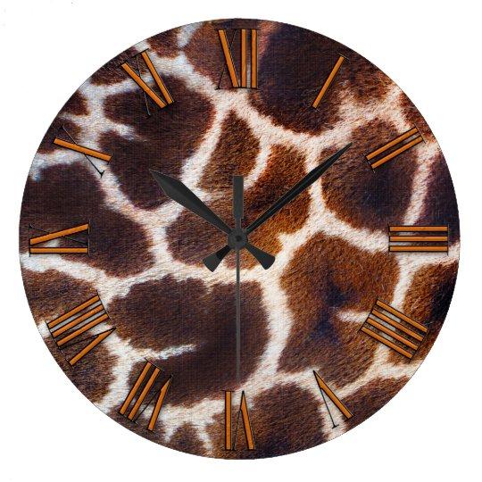 Look of Africa Giraffe Skin Effect Large Clock